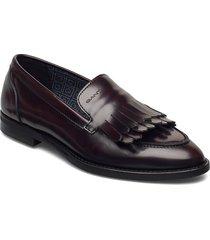 st beeton moccasin loafers låga skor röd gant