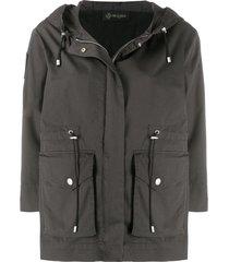plisse field jacket