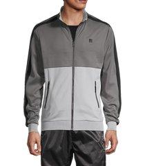 standard issue nyc men's side-stripe track jacket - navy - size xxl
