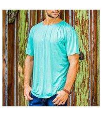 men's cotton founder's t-shirt, 'green kuta breeze' (indonesia)
