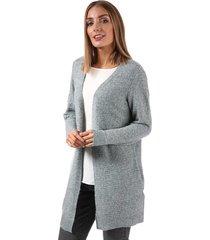 vero moda womens doffy long sleeve cardigan size 8 in grey