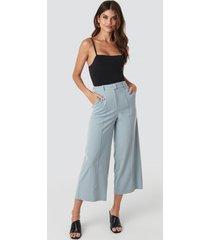 na-kd flowy wide pants - blue