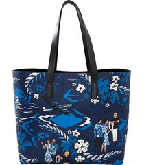 welcome print tote