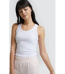camiseta mujer m/s acanalada color blanco, talla l