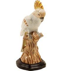 escultura decorativa de porcelana cacatua kinglake