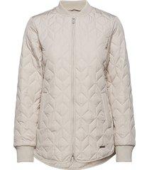 padded quilt jacket doorgestikte jas crème ilse jacobsen
