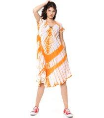 vestido naranja nano