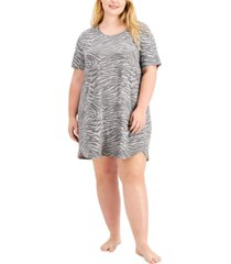 jenni plus size printed sleep shirt nightgown, created for macy's