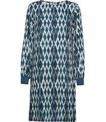 dress knälång klänning blå signal