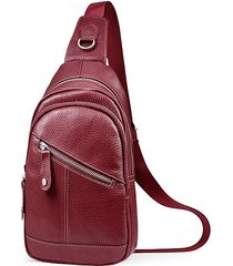 unisex moda vera pelle borse a tracolla borsa a tracolla piccola borsa casual
