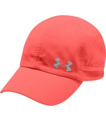 gorra under armour fly-by para mujer-coral claro