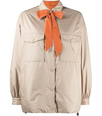 aspesi reversible neck-tie shirt - neutrals