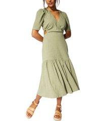 minkpink abigail textured side-cutout dress