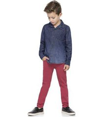 camisa infantil quimby jeans masculina