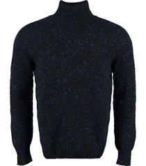 drumohr virgin wool and cashmere pullover
