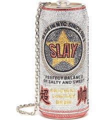 beverage can slay' crystal embellished crossbody bag