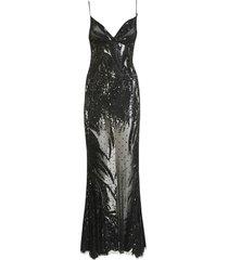 amen studded lace long dress