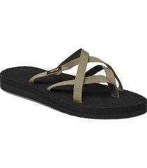 w olowahu shoes summer shoes flat sandals svart teva
