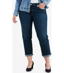 levi's plus size stretch boyfriend-fit jeans