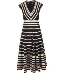 black striped tulle dress