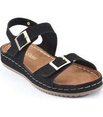 priceshoes sandalia confort dama 162432negro
