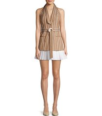 carmona striped sleeveless blazer dress