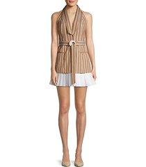 carmona striped sleeveless blazer dress