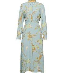 nubeatrix ls dress knälång klänning blå nümph