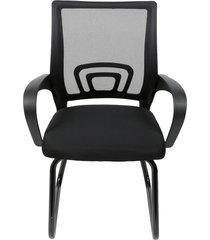 cadeira de escritório tok preta fixa