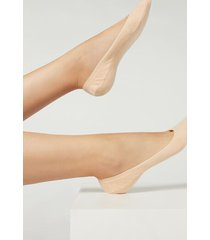 calzedonia women's cotton invisible socks with silicone edge woman ivory size 40-41