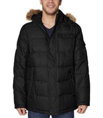 nautica men's big and tall hooded parka jacket