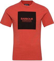 b.intl block tee t-shirts short-sleeved röd barbour