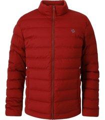 chaqueta pluma hombre amorak rojo