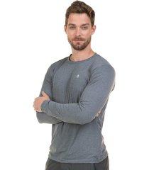 camiseta extreme uv com proteção solar cinza