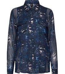 caia shirt overhemd met lange mouwen blauw nü denmark