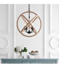 "soka 4-light 20"" adjustable globe, rope led chandelier"