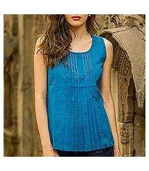 cotton blouse, 'varkala sea' (india)