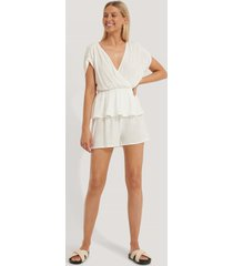 trendyol pyjamasset i lös passform - white