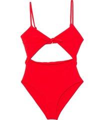 kia swimsuit in red