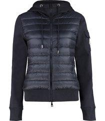 moncler padded panel hoodie