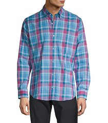 trim-fit plaid shirt