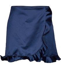 tilly kort kjol blå custommade