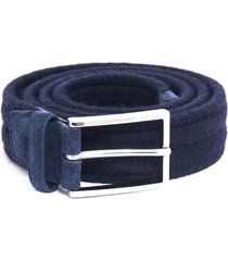 orciani blue wool belt