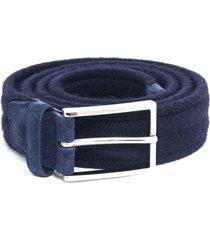 orciani blue wool belt