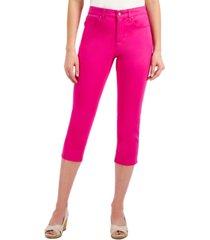charter club tummy control bristol capri jeans, created for macy's