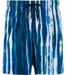 ermenegildo zegna tie-dye swim shorts - 418