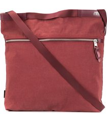 as2ov square shoulder bag - red
