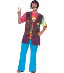 buyseasons men's hippie peace vest adult costume top