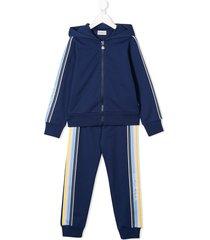 moncler enfant hooded tracksuit set - blue