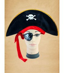 halloween cosplay skull bone pirate hat